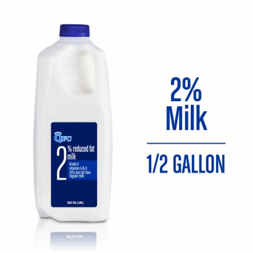 QFC 2% Reduced Fat Milk Perspective: front