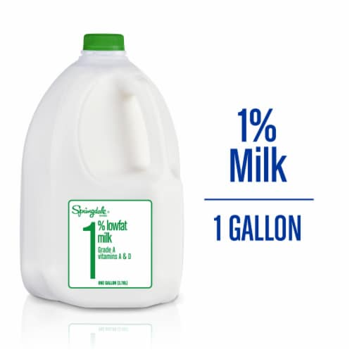 Springdale® 1% Lowfat Milk Perspective: front