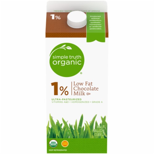 Simple Truth Organic® 1% Low Fat Chocolate Milk Perspective: front