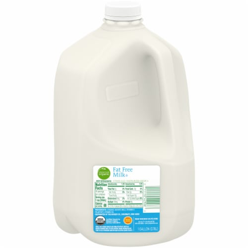 Simple Truth Organic® Fat Free Milk Perspective: front