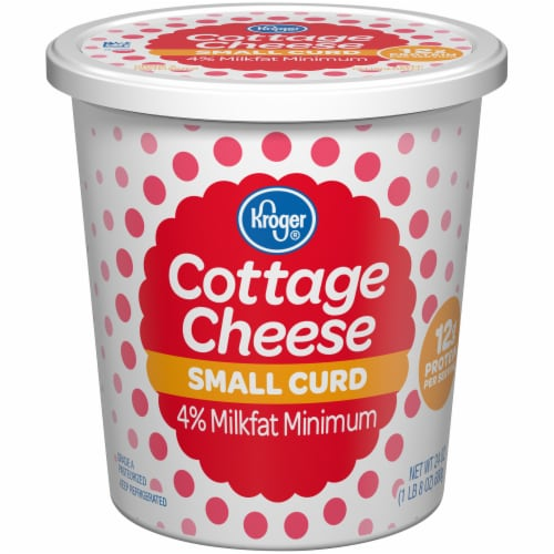 Kroger® 4% Milkfat Small Curd Cottage Cheese Perspective: front