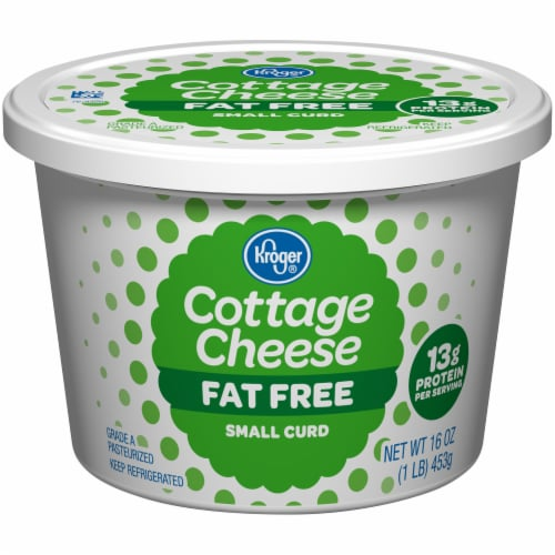 Kroger® Small Curd Fat Free Cottage Cheese Perspective: front