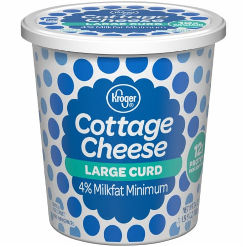 Kroger®  4% Milkfat Large Curd Cottage Cheese Perspective: front