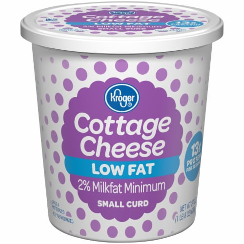 Kroger® 2% Lowfat Small Curd Cottage Cheese Perspective: front