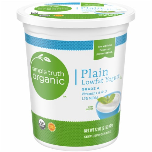 Simple Truth Organic™ Plain Low-Fat Yogurt Perspective: front