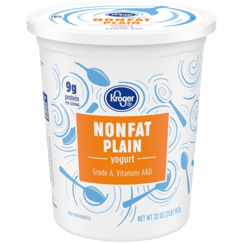 Kroger®  Plain Nonfat Grade A Yogurt Perspective: front