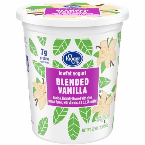 Kroger® Blended Vanilla Lowfat Yogurt Perspective: front