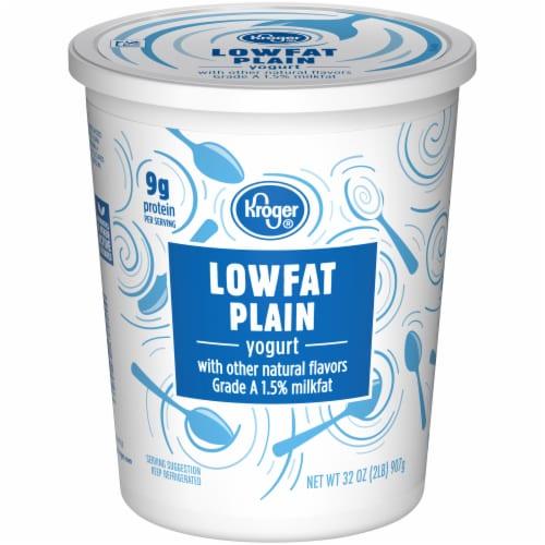 Kroger® Plain Lowfat Yogurt Tub Perspective: front