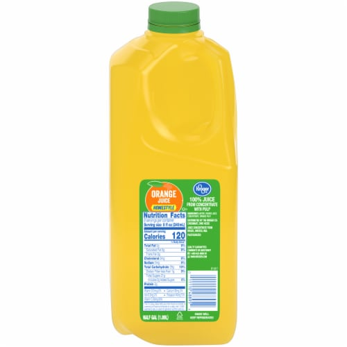 Kroger Homestyle Orange Juice Perspective: front
