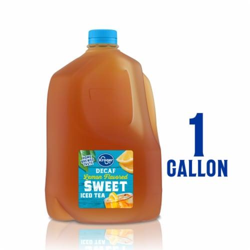 Kroger® Decaf Lemon Flavored Sweet Iced Tea Perspective: front