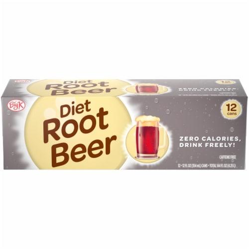 Big K® Diet Root Beer Perspective: front