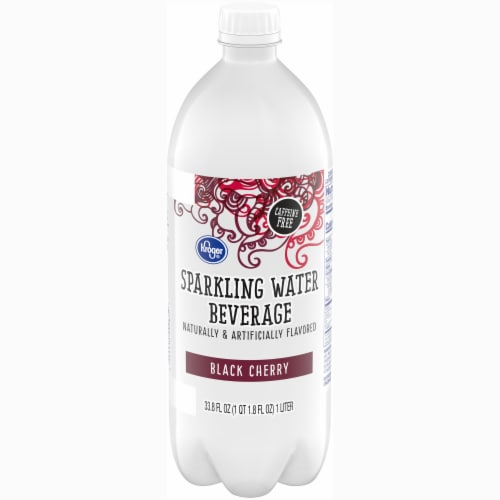 Kroger® Black Cherry Sparkling Water Perspective: front