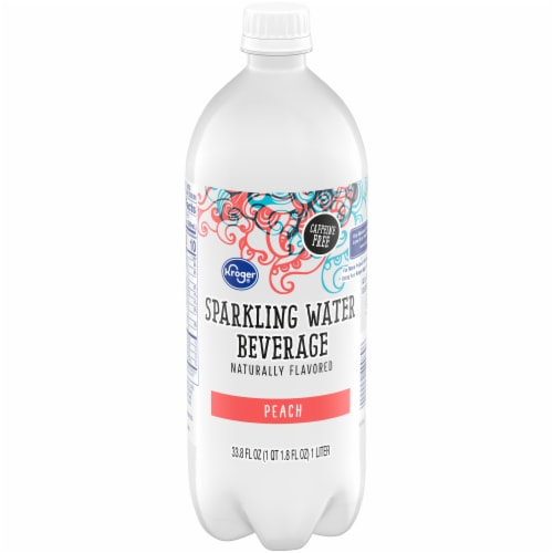 Kroger® Peach Sparkling Water Perspective: front