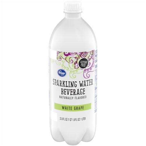 Kroger® White Grape Sparkling Water Perspective: front