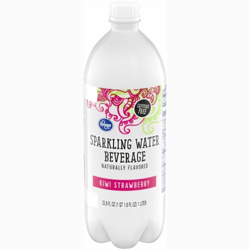 Kroger® Kiwi Strawberry Sparkling Water Perspective: front