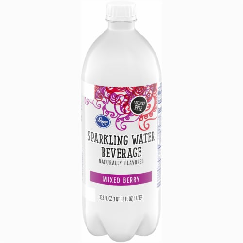 Kroger® Mixed Berry Sparkling Water Perspective: front