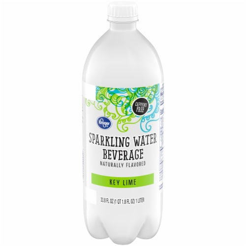 Kroger® Key Lime Sparkling Water Perspective: front