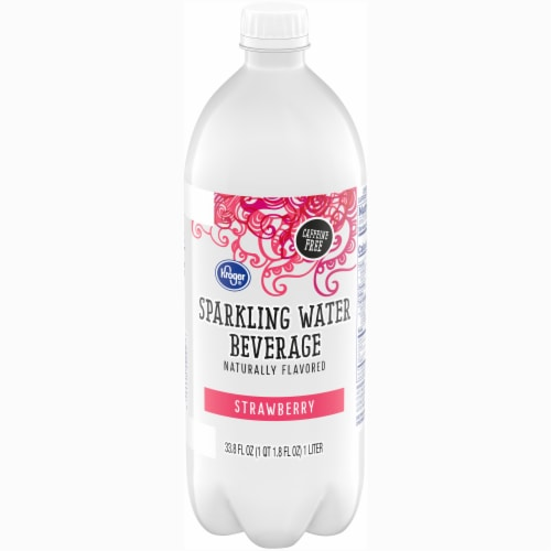 Kroger® Strawberry Sparkling Water Perspective: front