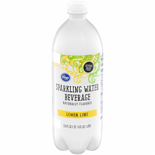 Kroger® Lemon Lime Sparkling Water Perspective: front
