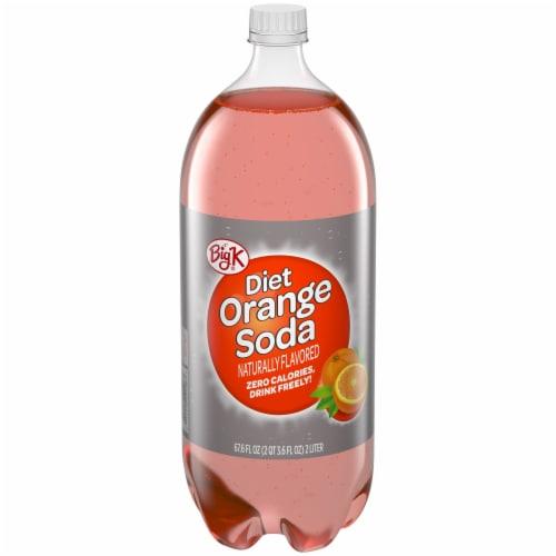 Big K® Diet Orange Soda Perspective: front