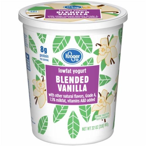 Kroger® Blended Vanilla Grade A Lowfat Yogurt Perspective: front