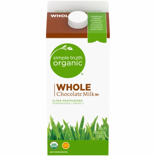 Simple Truth Organic® Whole Chocolate Milk Perspective: front