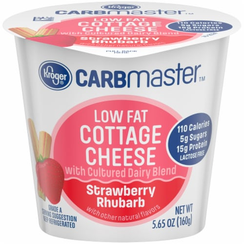 Kroger® CarbMaster™ Strawberry Rhubarb Low Fat Cottage Cheese Perspective: front