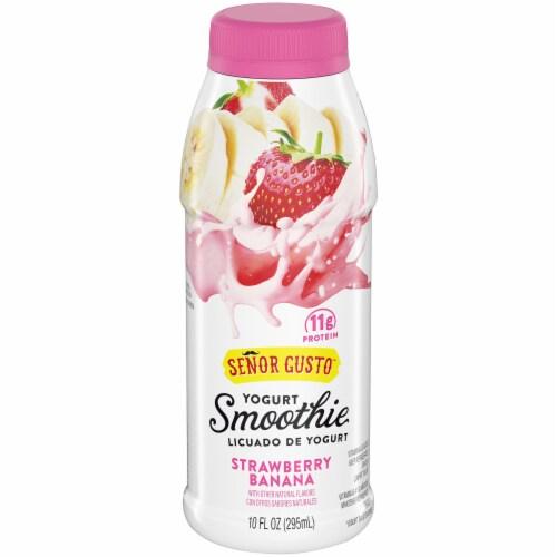 Senor Gusto Strawberry Banana Drinkable Yogurt Smoothie Perspective: front