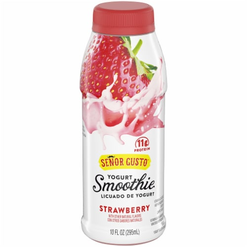 Senor Gusto Strawberry Drinkable Yogurt Smoothie Perspective: front