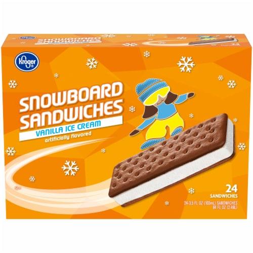 Kroger® Snowboard Vanilla Ice Cream Sandwiches Perspective: front