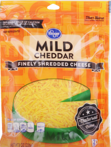 Kroger® Finely Shredded Mild Cheddar Cheese Perspective: front