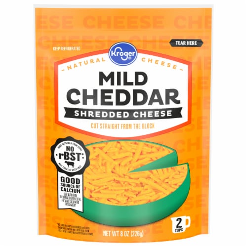 Kroger® Shredded Mild Cheddar Cheese Perspective: front