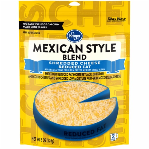 Kroger® Reduced Fat Finely Shredded Mexican Style Cheese Perspective: front