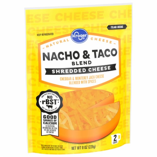 Kroger® Nacho & Taco Blend Shredded Cheese Perspective: front