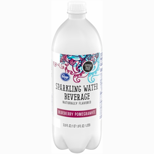 Kroger® Blueberry Pomegranate Sparkling Water Perspective: front