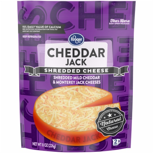 Kroger® Cheddar Jack Shredded Cheese Perspective: front