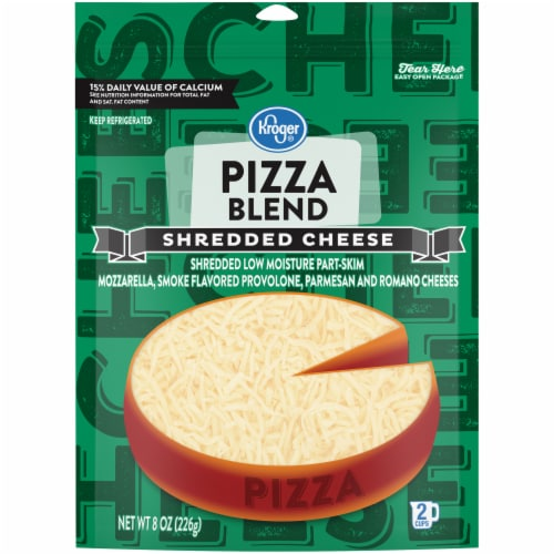 Kroger® Finely Shredded Pizza Blend Cheese Perspective: front