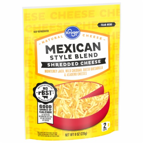 Kroger® Shredded Mexican Style Cheese Blend Perspective: front