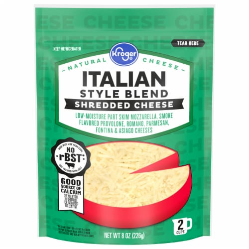Kroger® Finely Shredded Italian Style Cheese Perspective: front