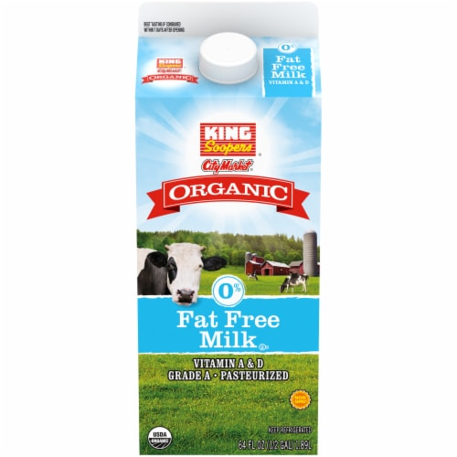 King Soopers® City Market® Organic Fat Free Milk Perspective: front