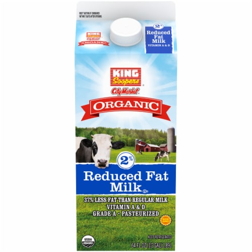 King Soopers City Market Organic 2% Reduced Fat Milk Perspective: front