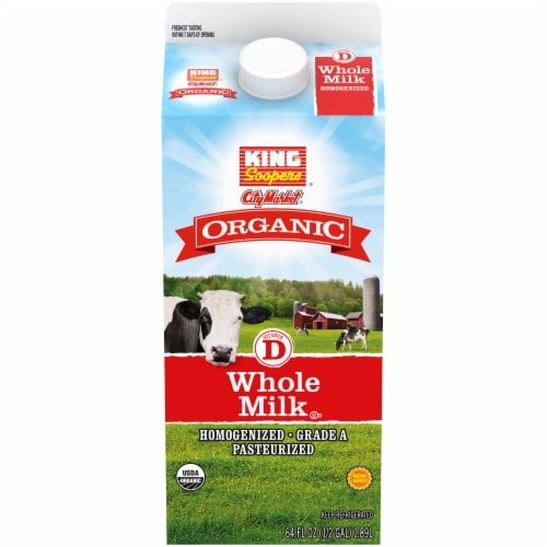 King Soopers Organic Vitamin D Whole Milk Perspective: front