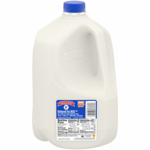 King Soopers™ City Market Organic 2% Reduced Fat Milk Perspective: front