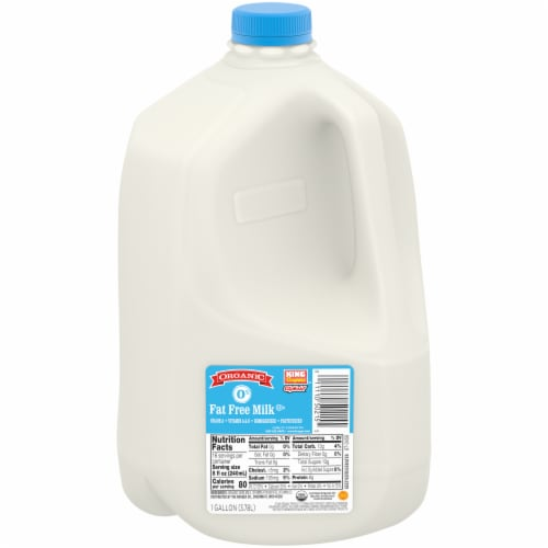 King Soopers City Market Organic Fat Free Milk Perspective: front