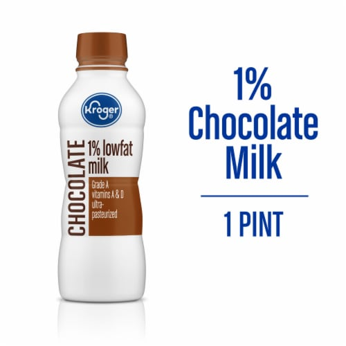 Kroger® 1% Low Fat Chocolate Milk Perspective: front