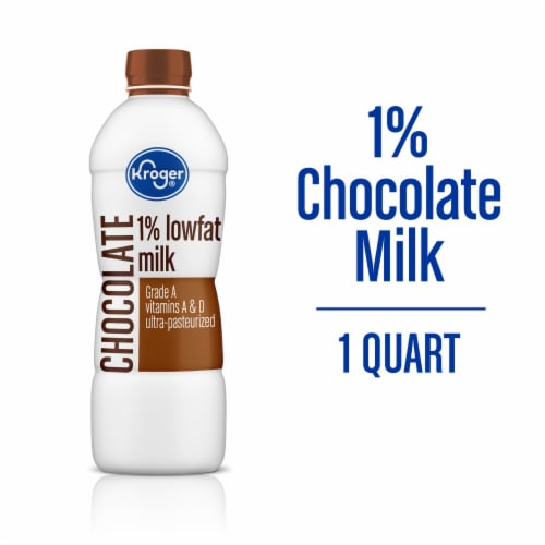 Kroger® Lowfat Chocolate Milk Perspective: front