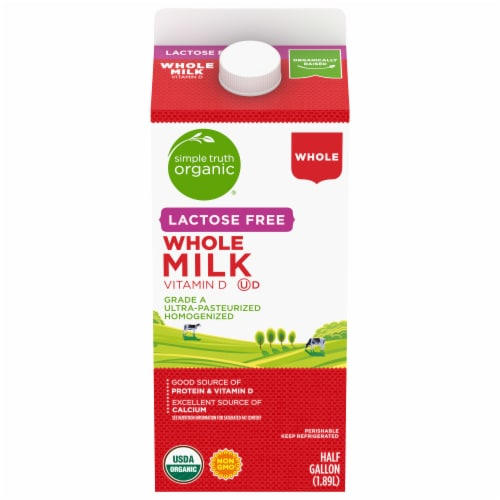 Simple Truth Organic® Lactose Free Whole Milk Perspective: front