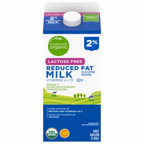 Simple Truth Organic® Lactose Free 2% Reduced Fat Milk Perspective: front