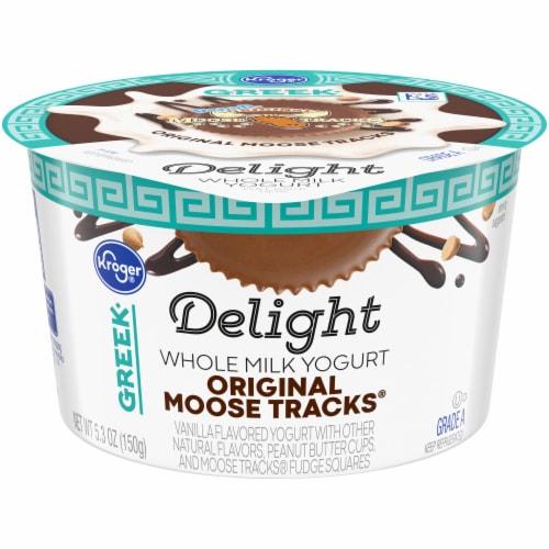 Kroger® Delight Original Moose Tracks Whole Milk Greek Yogurt Perspective: front