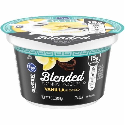 Kroger® Blended Vanilla Nonfat Greek Yogurt Cup Perspective: front